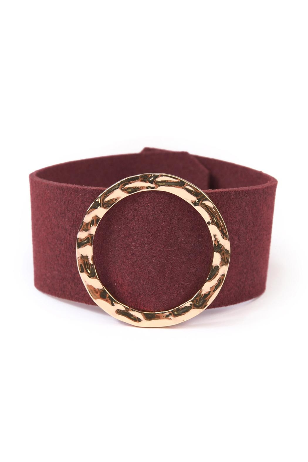 Riah Fashion Faux Leather Belt Bracelet - Main Image