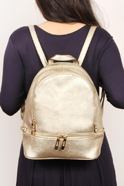 Riah Fashion Faux-Leather-Mini-Backpack - Front cropped