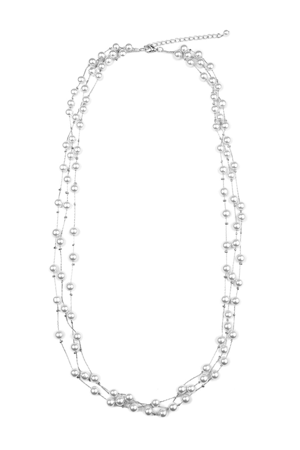 Riah Fashion Faux Pearl Necklace - Main Image