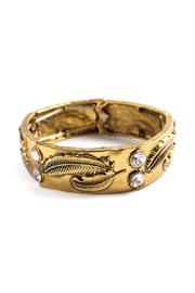 Riah Fashion Feather Carved Bracelet - Product Mini Image