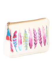 Riah Fashion Feather Mix Cosmetic Pouch - Product Mini Image