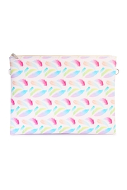 Riah Fashion Feather Print Clutch Bag - Product Mini Image