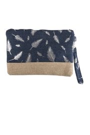Riah Fashion Feather Printed Wristlet-Bag - Product Mini Image