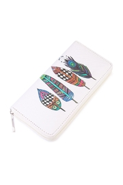 Riah Fashion Feather Printed Wallet - Product Mini Image