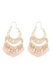 Riah Fashion Filigree Disc Drop-Earrings - Product Mini Image