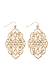 Riah Fashion Filigree Earrings - Front cropped