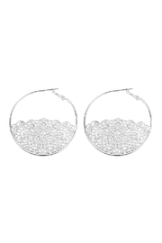 Riah Fashion Filigree Hoop Bottom-Half-Earring - Product Mini Image