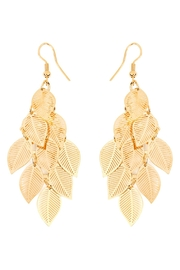 Riah Fashion Filigree Layer Drop Earring - Product Mini Image
