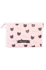 Riah Fashion Bone & Cat Cosmetic Bag - Product Mini Image