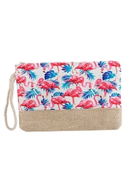 Riah Fashion Flamingo Printed Wristlet-Bag - Product Mini Image