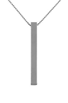 Riah Fashion Flat Bar Necklace - Product List Image