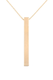 Riah Fashion Flat Bar Necklace - Product Mini Image