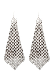 Riah Fashion Floppy-Cone-Square Shape-Drop-Earrings - Front cropped
