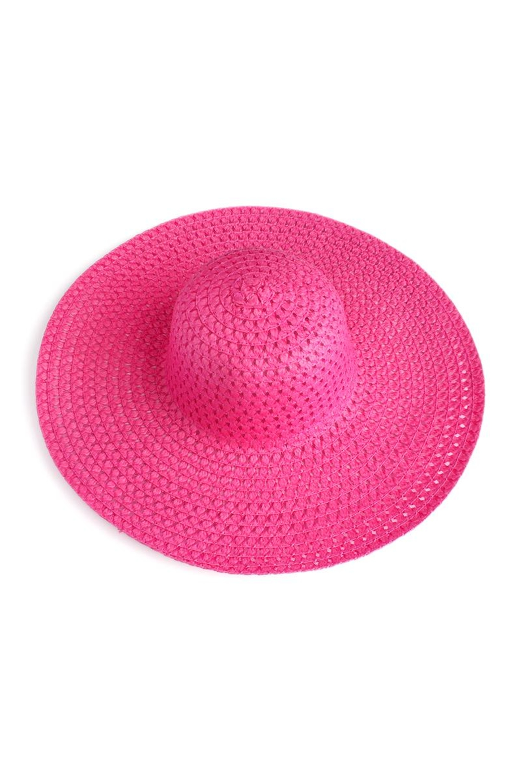 Riah Fashion Floppy Straw Hat - Front Cropped Image