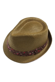 Riah Fashion Floral Band Fedora - Product Mini Image