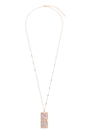 Riah Fashion Floral Charm Pendant Necklace - Side cropped