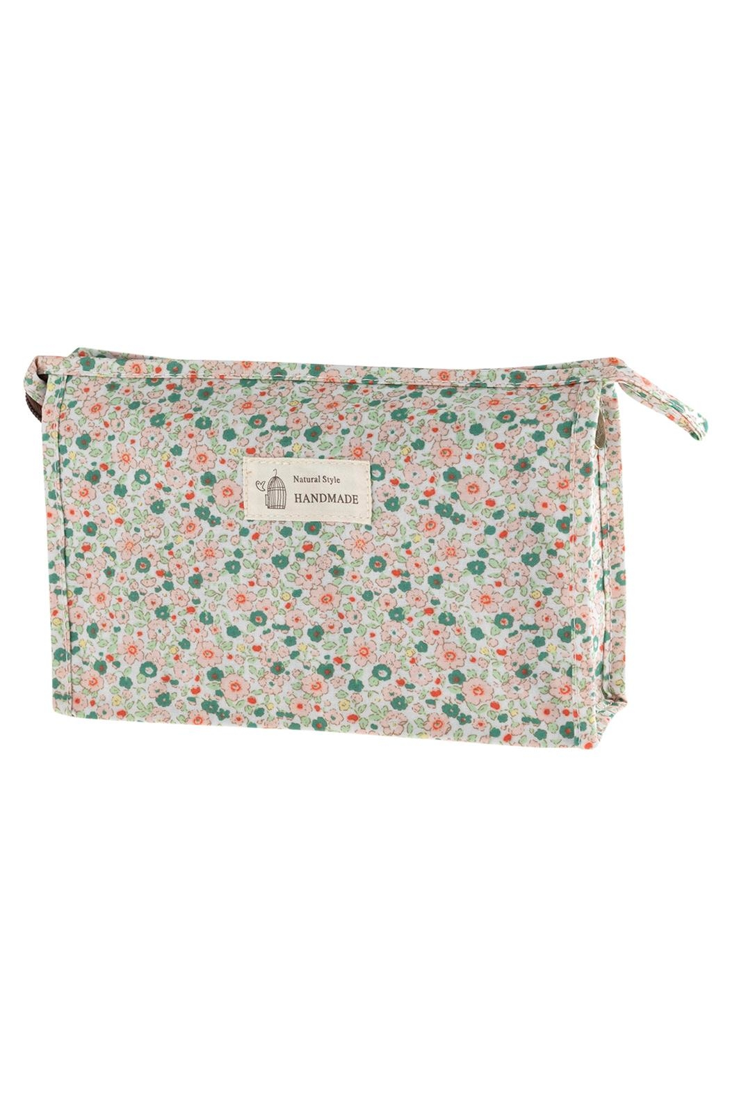 Riah Fashion Floral Cosmetic Bag - Front Cropped Image