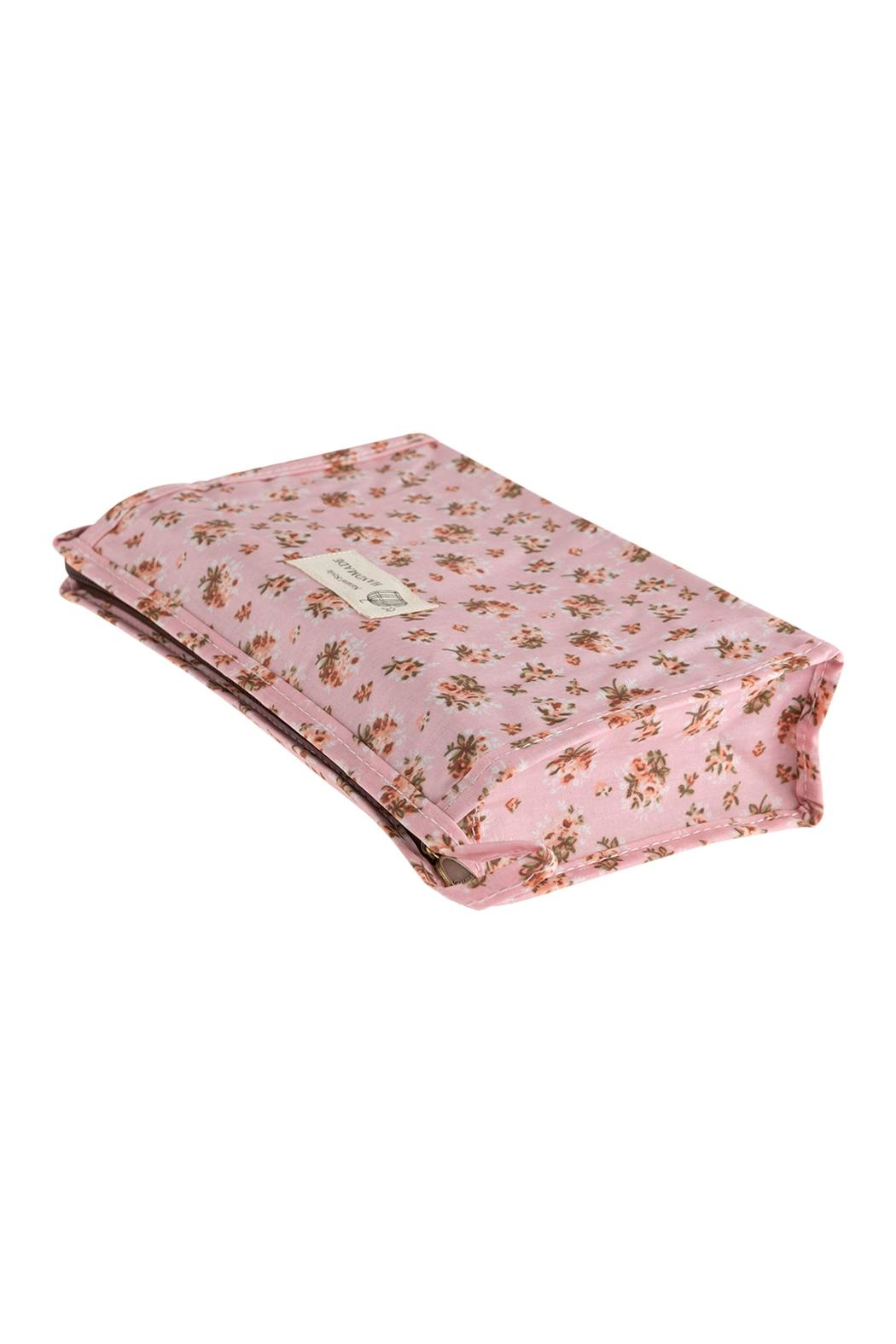 Riah Fashion Floral Cosmetic Bag - Front Full Image