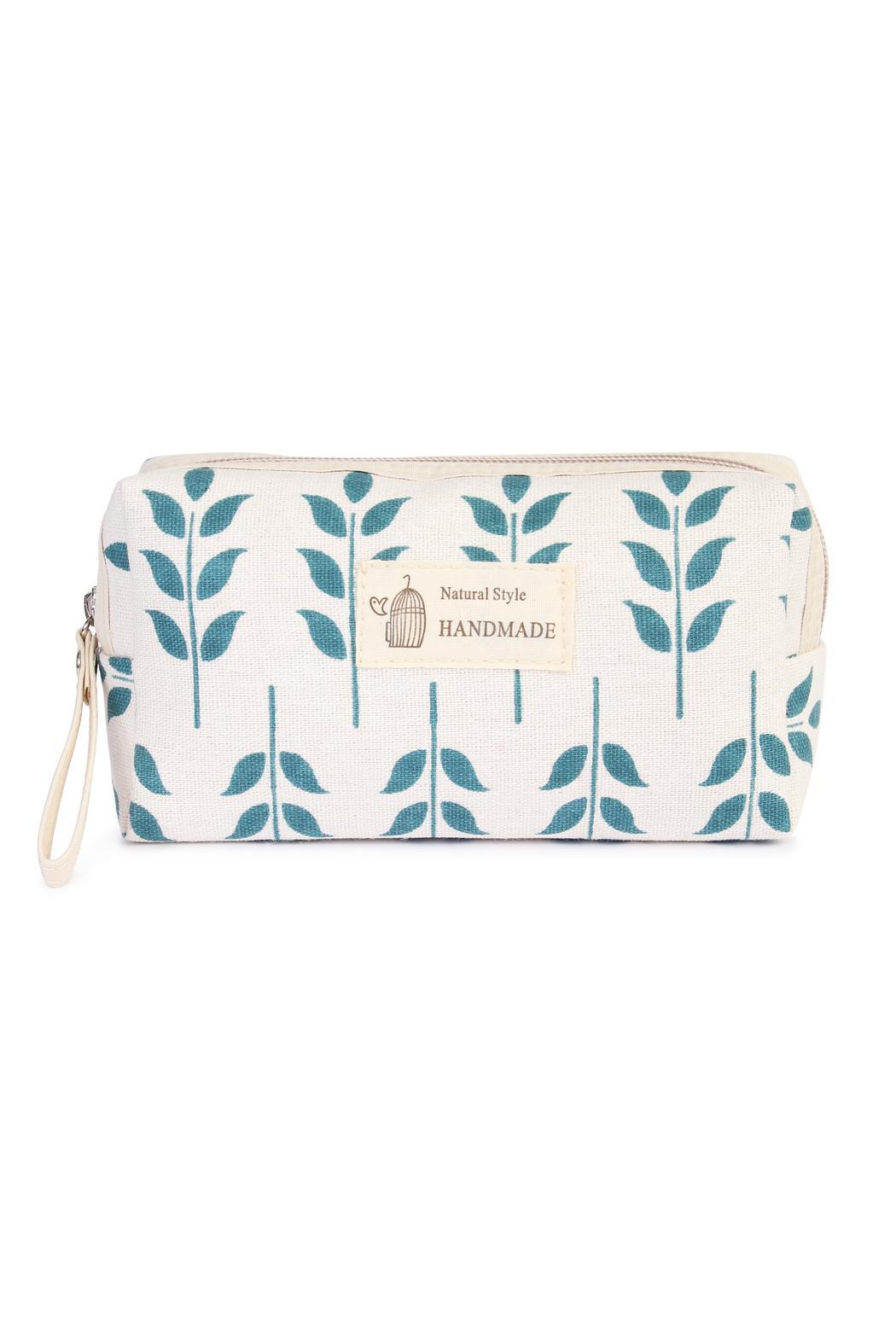 Riah Fashion Floral Cosmetic Pouch - Main Image