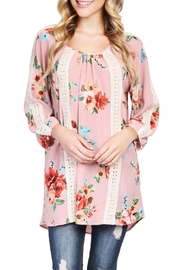 Riah Fashion Floral Tunic Top - Back cropped