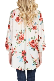 Riah Fashion Floral Tunic Top - Side cropped