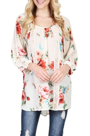 Riah Fashion Floral Tunic Top - Front cropped