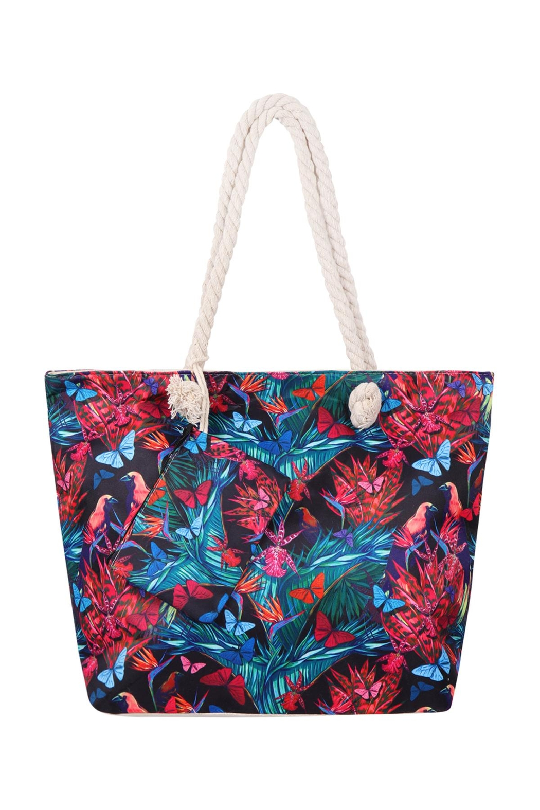Riah Fashion Floral-Digital-Printed-Tote-Bag-W/-Matching-Wallet - Main Image