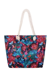 Riah Fashion Floral-Digital-Printed-Tote-Bag-W/-Matching-Wallet - Front cropped