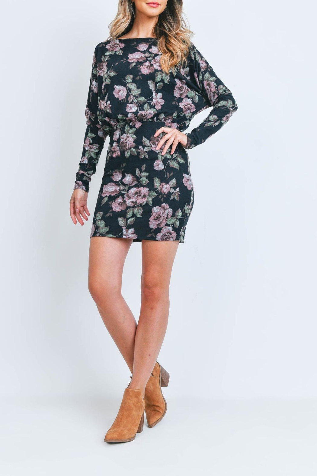 Riah Fashion Floral-Dress - Front Cropped Image