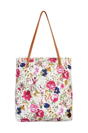 Riah Fashion Floral Inclined Tote-Bag - Front cropped