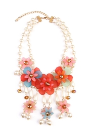 Riah Fashion Floral Layered Necklace - Product Mini Image