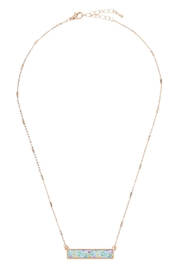 Riah Fashion Floral Pendant Necklace - Side cropped