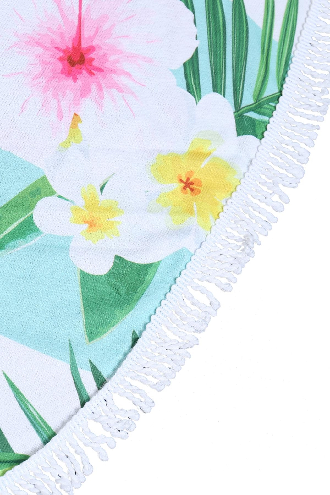 Riah Fashion Floral-Pineapple-Round-Towel - Front Full Image