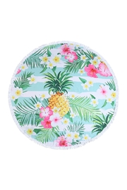 Riah Fashion Floral-Pineapple-Round-Towel - Product Mini Image