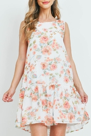 Riah Fashion Floral-Print-Sleeveless-Ruffle-Hem-Dress-With-Inside Lining - Front cropped