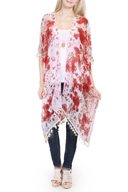 Riah Fashion Floral Print Tassel Kinomo - Product Mini Image