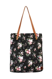 Riah Fashion Floral Print Tote Bag - Product Mini Image