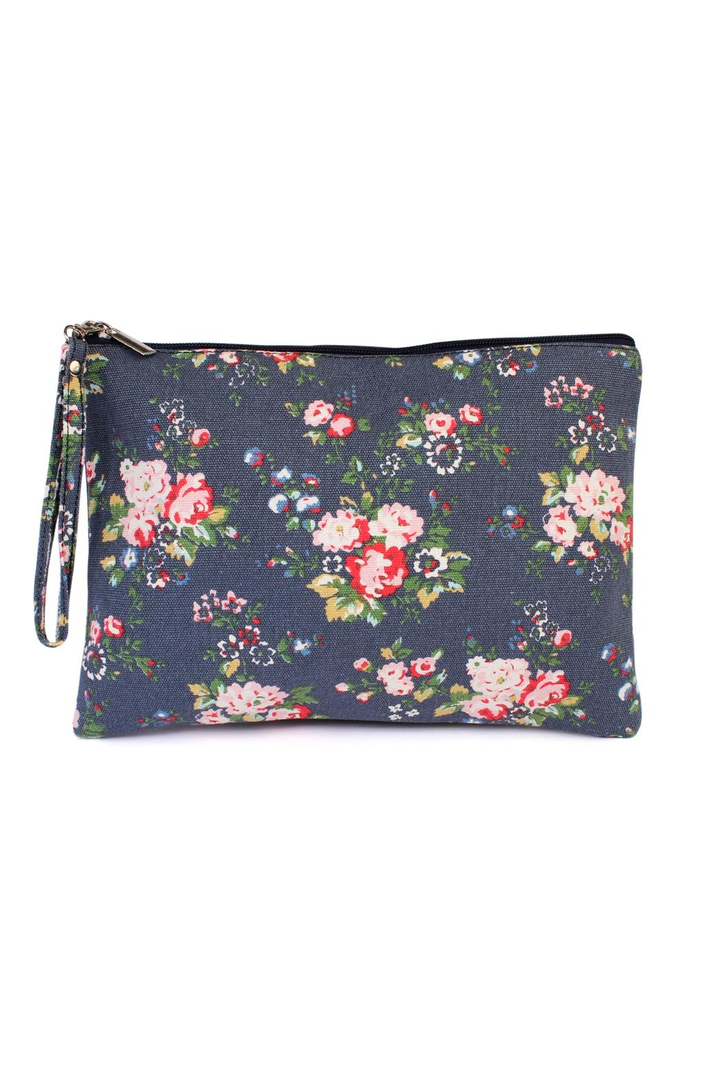 Riah Fashion Floral-Print Wristlet Cosmetic-Bag - Front Cropped Image