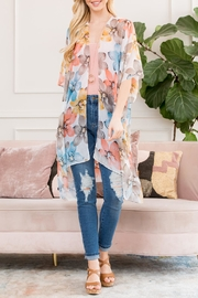 Riah Fashion Floral Printed Kimono - Product Mini Image