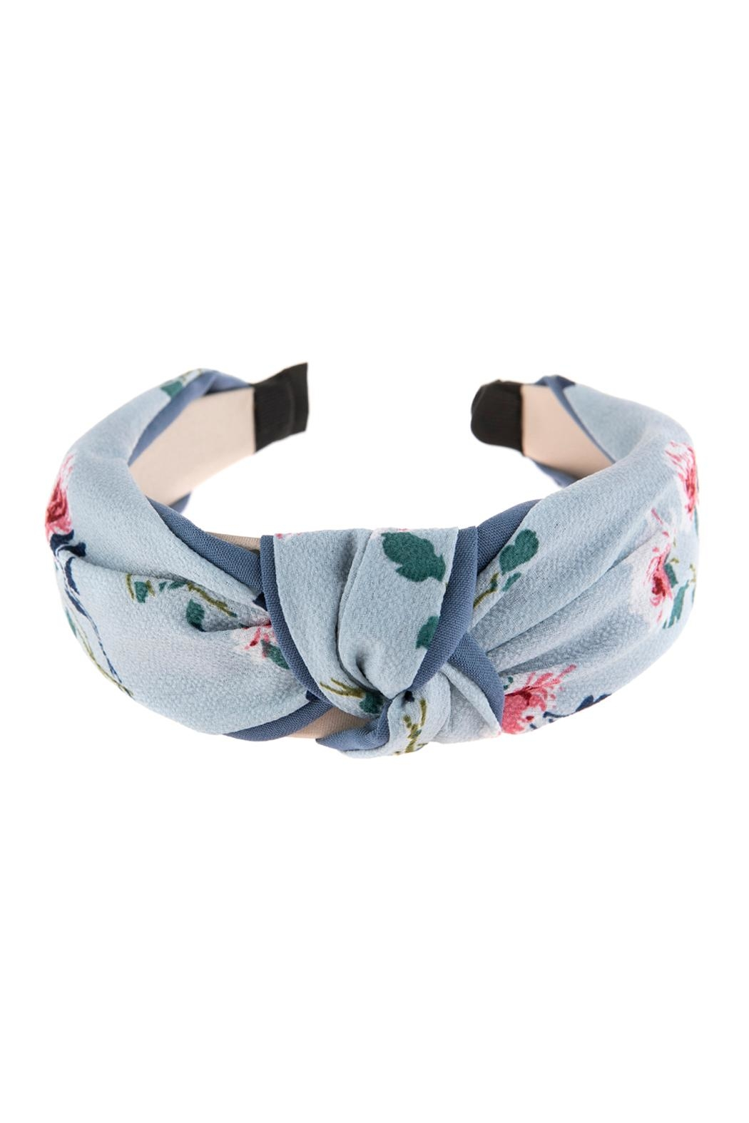 Riah Fashion Floral Printed-Knotted-Fabric-Headband - Main Image