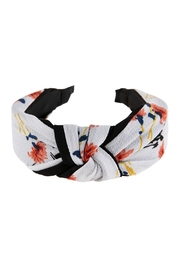 Riah Fashion Floral Printed-Knotted-Fabric-Headband - Front cropped