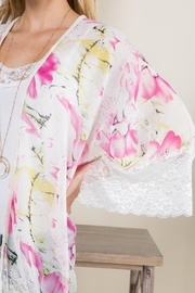Riah Fashion Floral-Printed Lace Kimono - Other