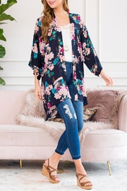 Riah Fashion Floral Robe Kimono Style 1 - Side cropped