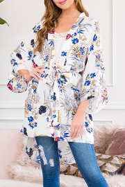 Riah Fashion Floral Robe Kimono Style 1 - Product Mini Image