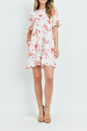 Riah Fashion Floral-Ruffle-Sleeves-Swing-Dress - Other