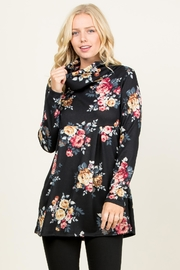 Riah Fashion Floral Sweater-Babydoll Tunic - Product Mini Image