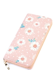 Riah Fashion Floral Zipper Wallet - Product Mini Image