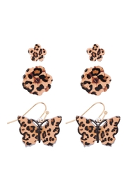 Riah Fashion Flower & Butterfly Spring 3 Set Earrings - Product Mini Image