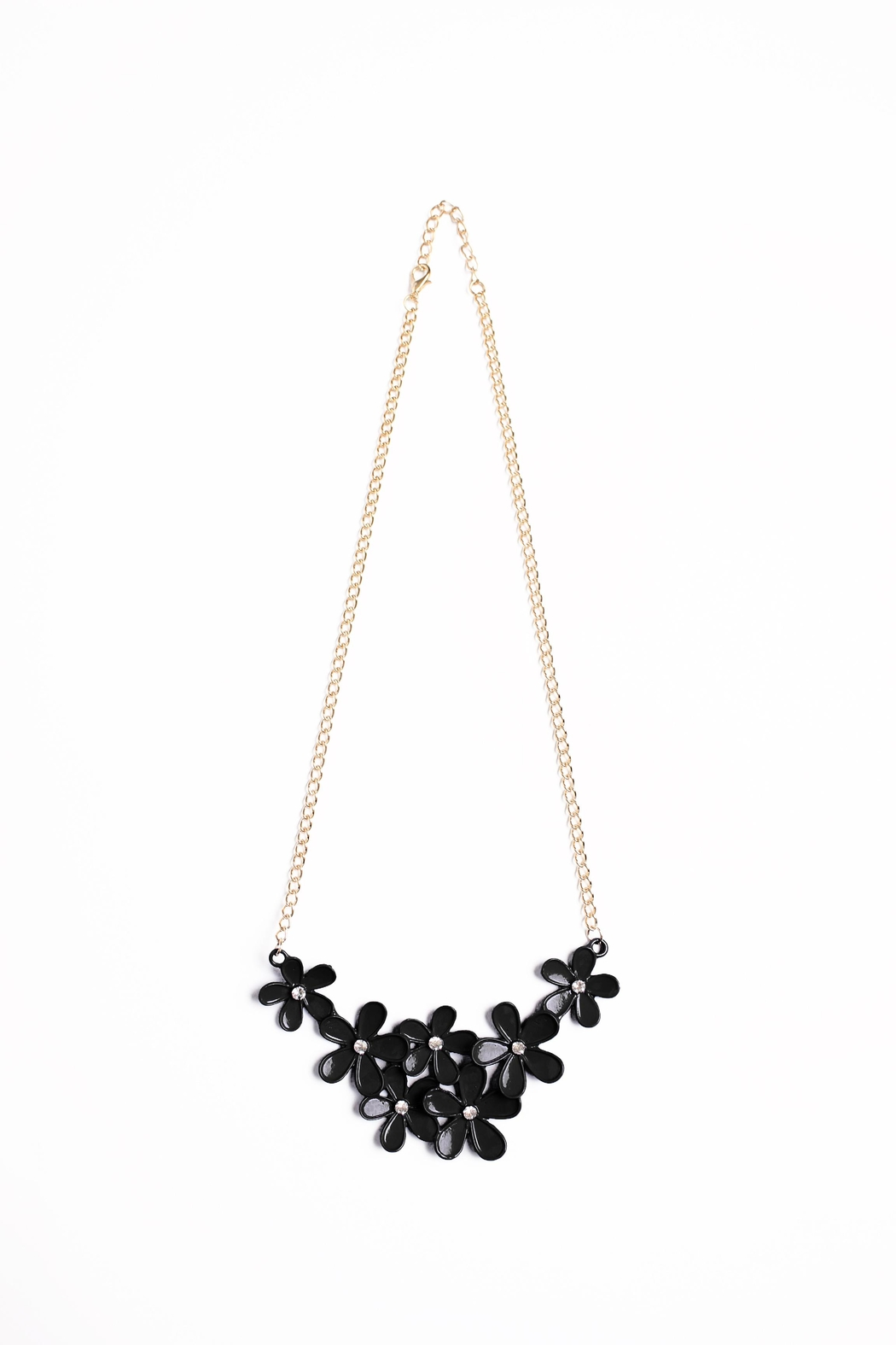 Riah Fashion Flower Chain Necklace - Main Image