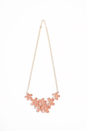 Riah Fashion Flower Chain Necklace - Front cropped